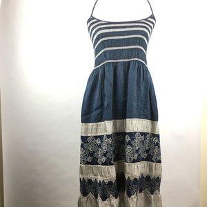 Max Studio Blue Lace Tank Dress